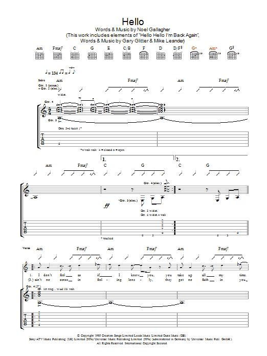 Hello (Guitar Tab)