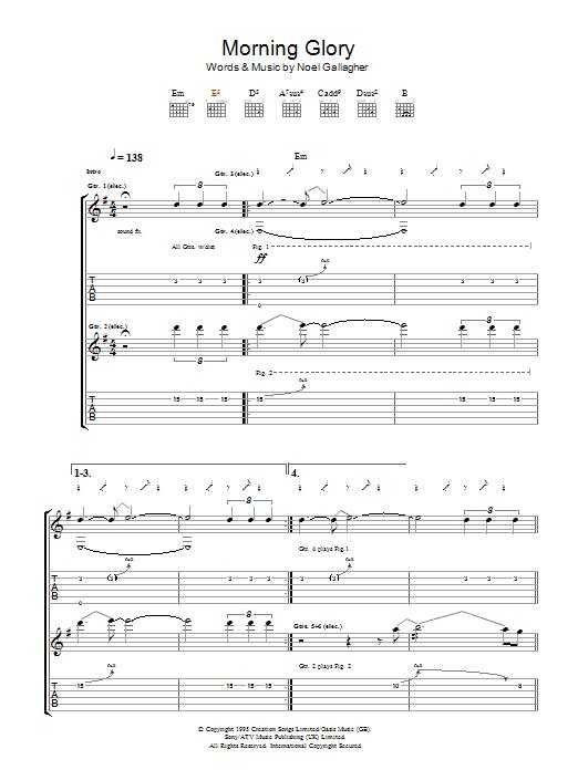 Morning Glory (Guitar Tab)