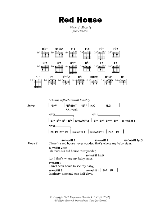 Red House Sheet Music