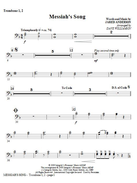 Messiah's Song - Trombone 1, 2 Sheet Music