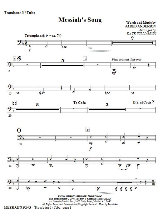 Messiah's Song - Trombone 3/Tuba Sheet Music