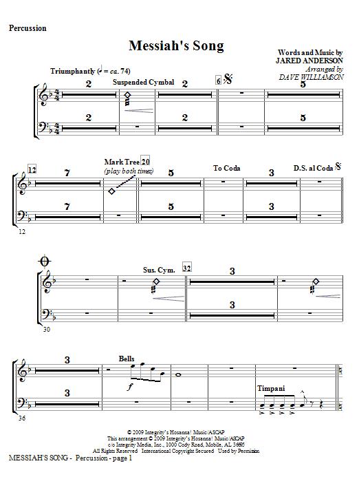 Messiah's Song - Percussion Sheet Music