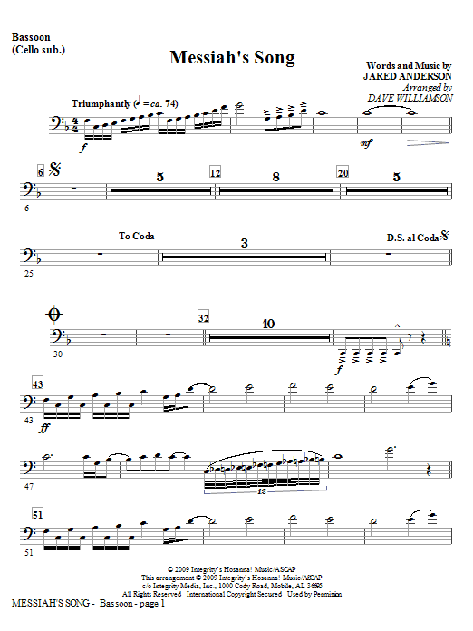 Messiah's Song - Keyboard String Reduction Sheet Music