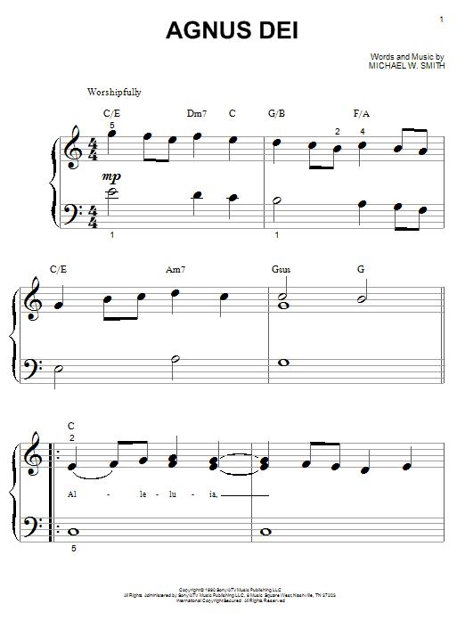 Partition piano Agnus Dei de Michael W. Smith - Autre