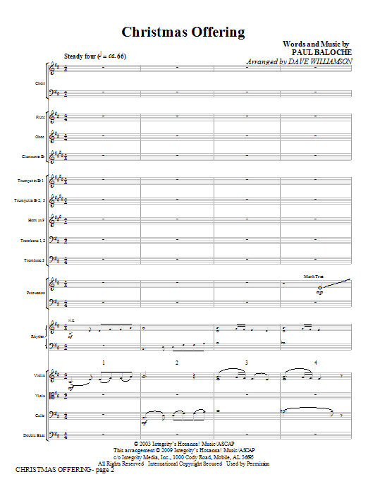 Christmas Offering - Full Score Sheet Music