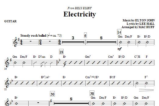 Electricity (from Billy Elliot) - Guitar (Choir Instrumental Pak)