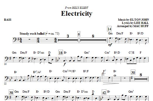 Electricity (from Billy Elliot) - Bass (Choir Instrumental Pak)