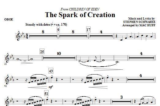The Spark of Creation (from Children of Eden) - Oboe (Choir Instrumental Pak)