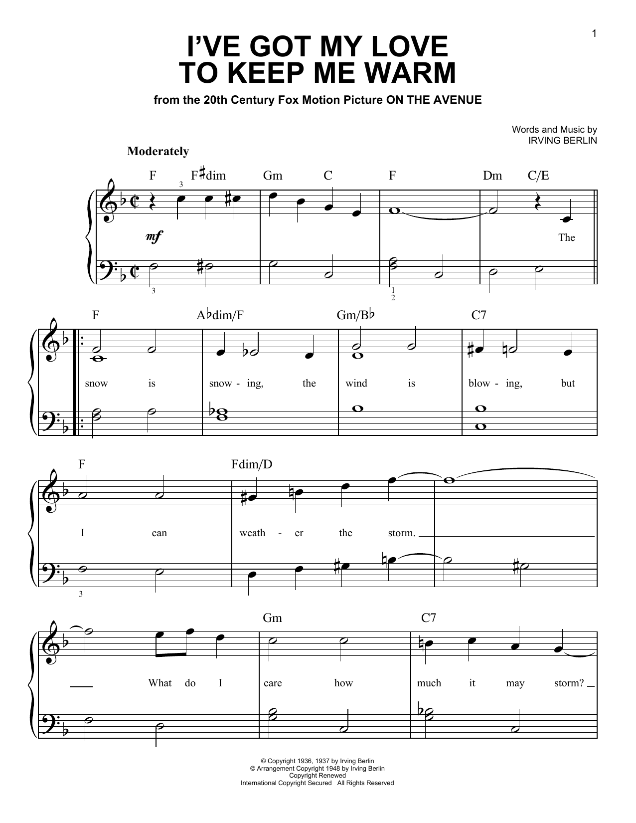 I've Got My Love To Keep Me Warm Sheet Music