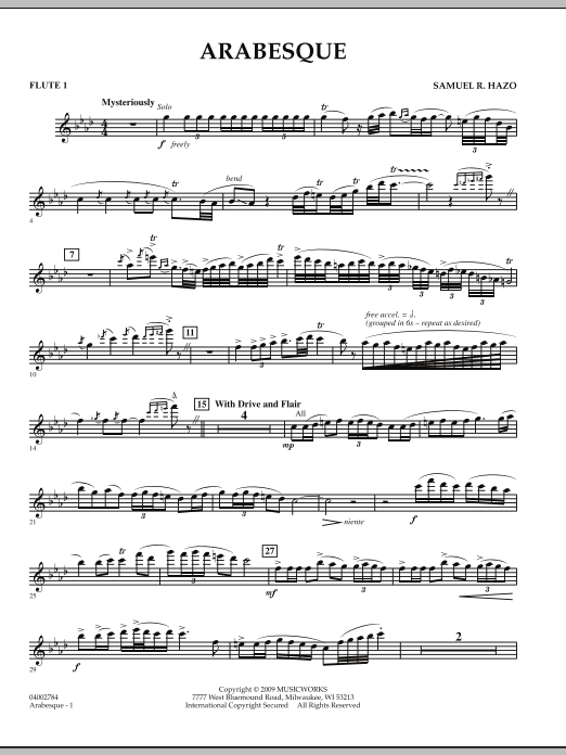 Arabesque - Flute 1 (Concert Band)