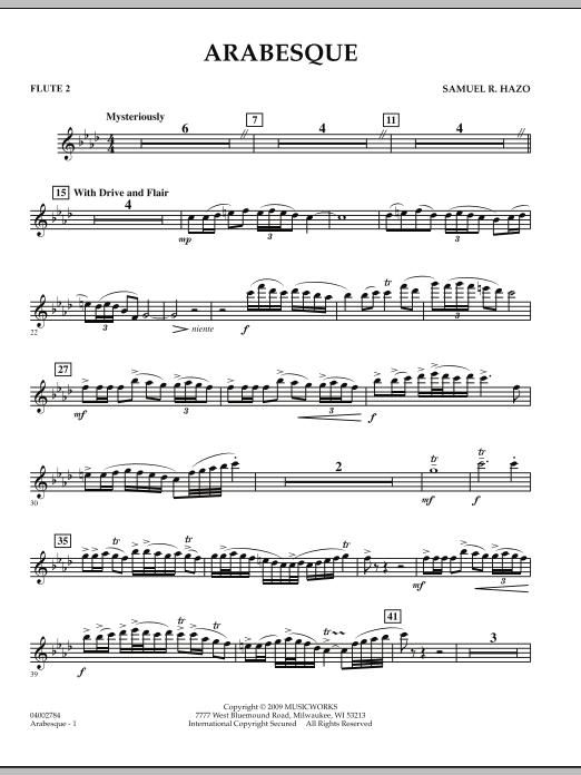 Arabesque - Flute 2 (Concert Band)