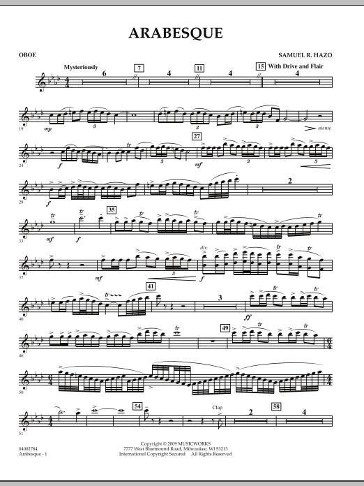Arabesque - Oboe (Concert Band)