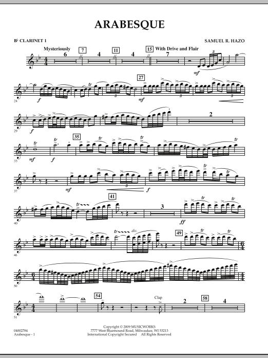 Arabesque - Bb Clarinet 1 (Concert Band)