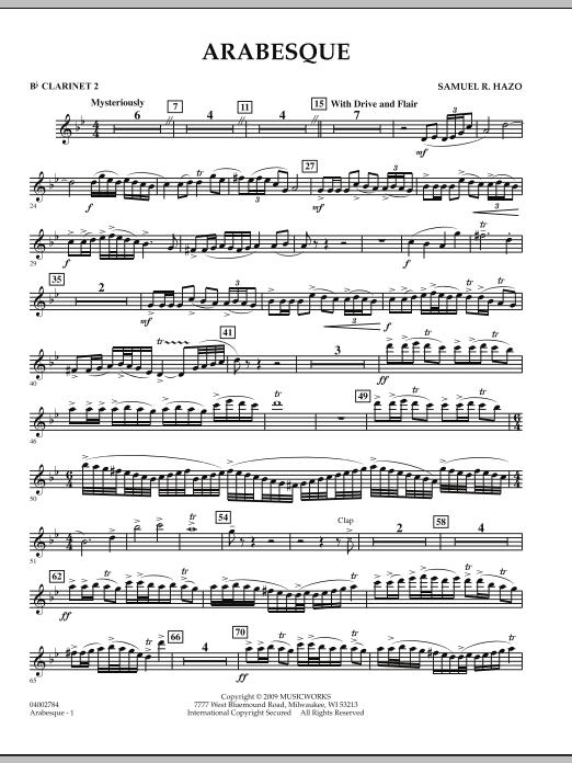 Arabesque - Bb Clarinet 2 (Concert Band)