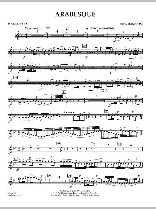 Arabesque - Bb Clarinet 3 (Concert Band)
