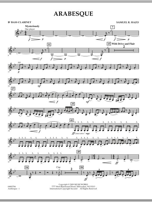 Arabesque - Bb Bass Clarinet (Concert Band)