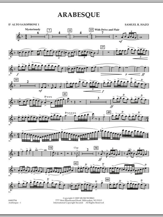 Arabesque - Eb Alto Saxophone 1 (Concert Band)