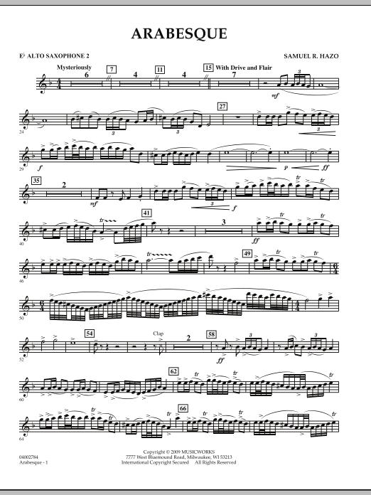 Arabesque - Eb Alto Saxophone 2 (Concert Band)