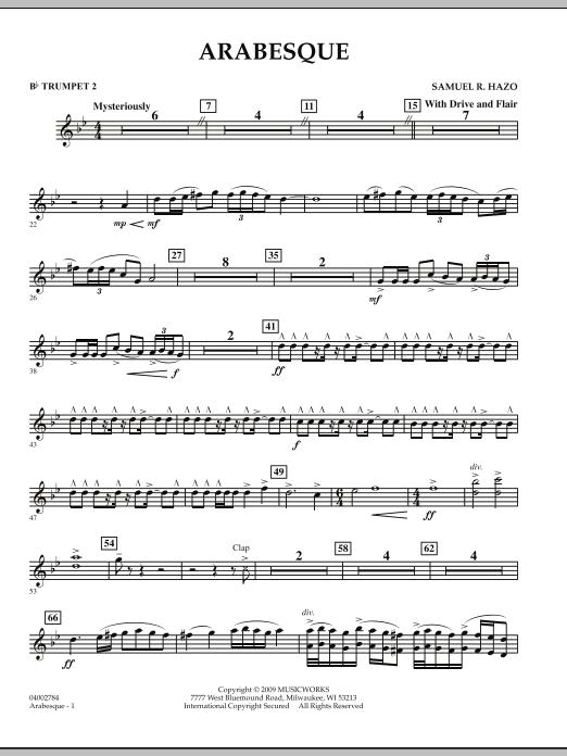 Arabesque - Bb Trumpet 2 (Concert Band)
