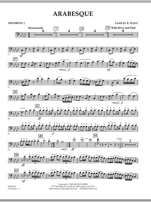 Arabesque - Trombone 1 (Concert Band)