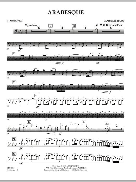 Arabesque - Trombone 2 (Concert Band)