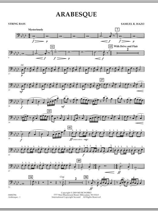 Arabesque - String Bass (Concert Band)