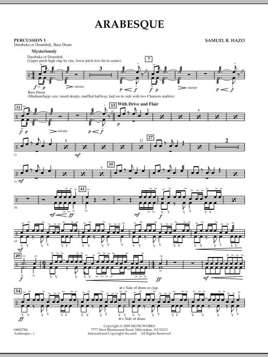 Arabesque - Percussion 1 (Concert Band)