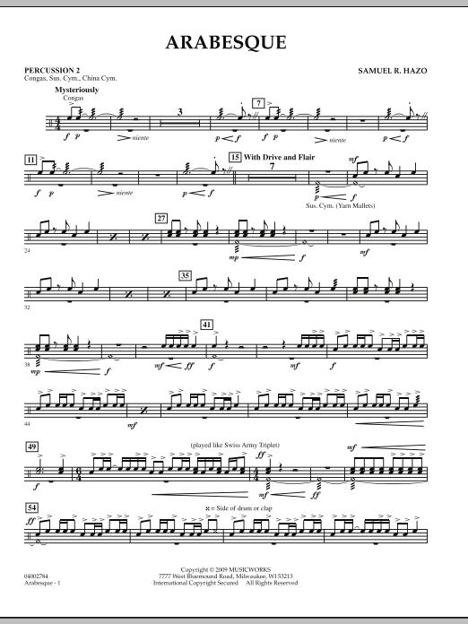 Arabesque - Percussion 2 (Concert Band)