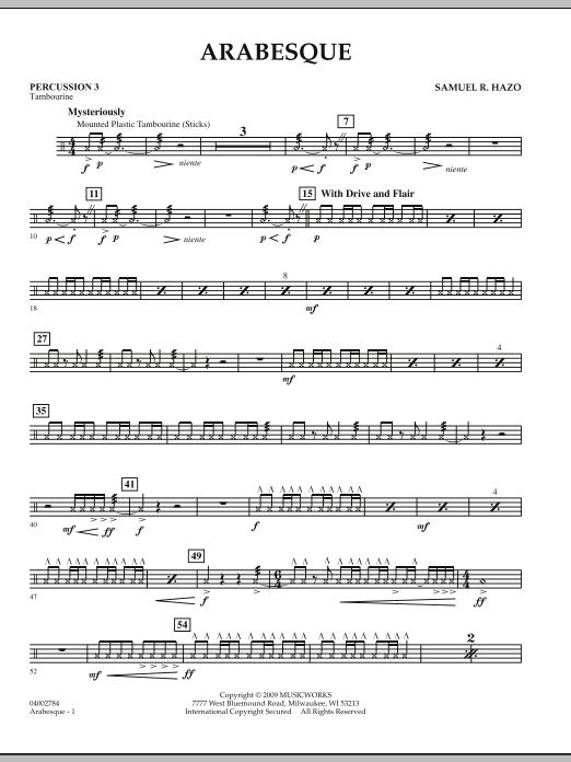 Arabesque - Percussion 3 (Concert Band)
