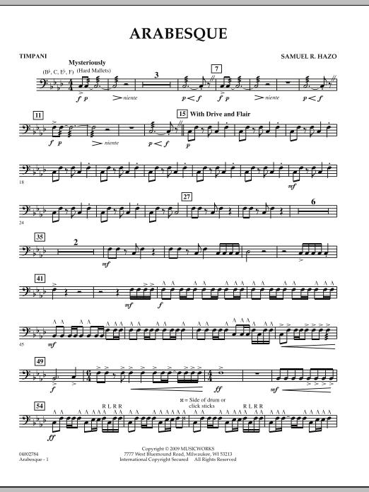 Arabesque - Timpani (Concert Band)