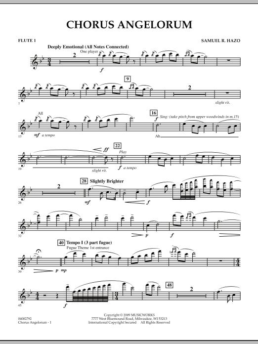 Chorus Angelorum - Flute 1 (Concert Band)