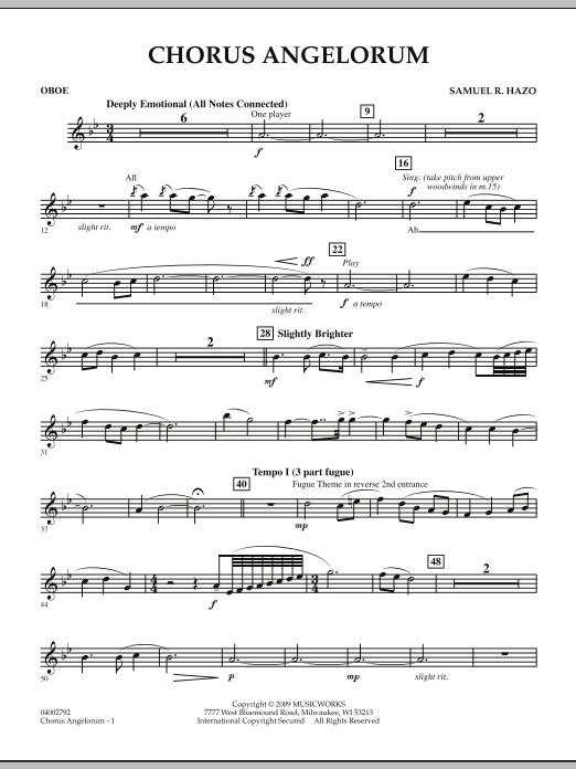 Chorus Angelorum - Oboe (Concert Band)