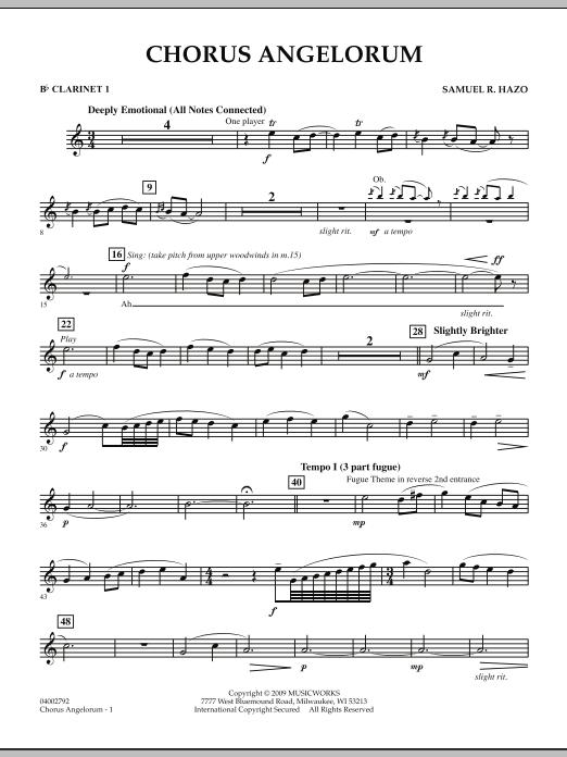 Chorus Angelorum - Bb Clarinet 1 (Concert Band)