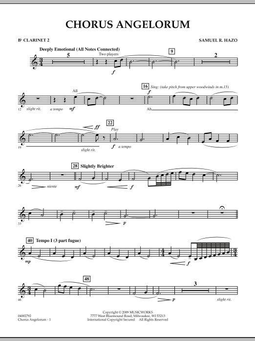 Chorus Angelorum - Bb Clarinet 2 (Concert Band)