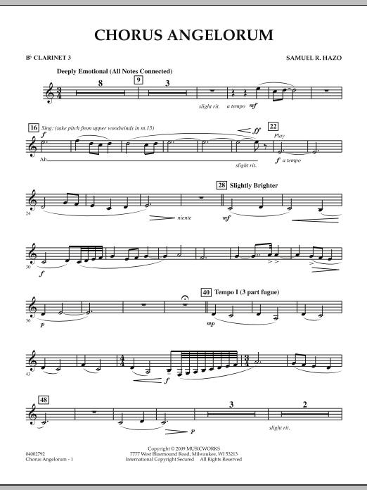 Chorus Angelorum - Bb Clarinet 3 (Concert Band)