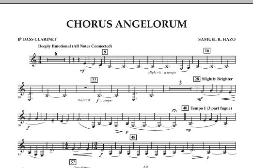 Chorus Angelorum - Bb Bass Clarinet (Concert Band)