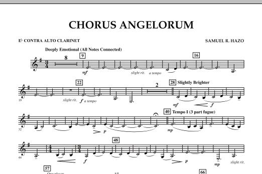 Chorus Angelorum - Eb Contra Alto Clarinet (Concert Band)
