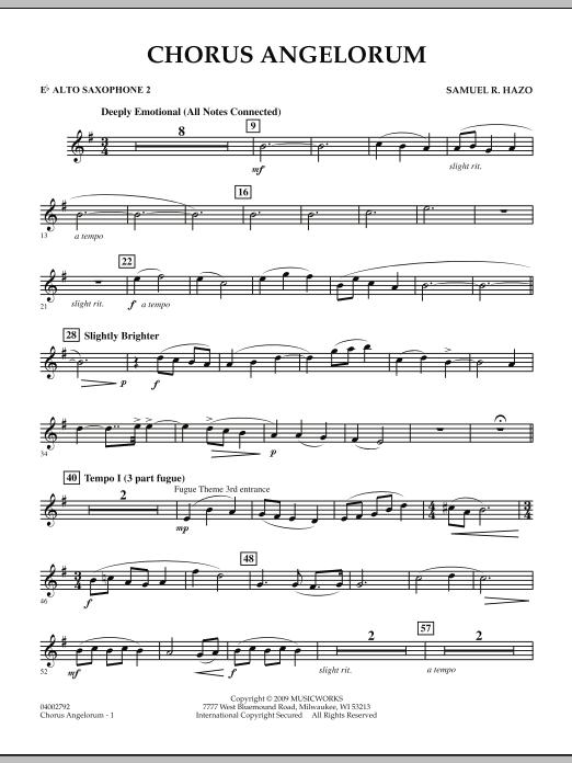 Chorus Angelorum - Eb Alto Saxophone 2 (Concert Band)