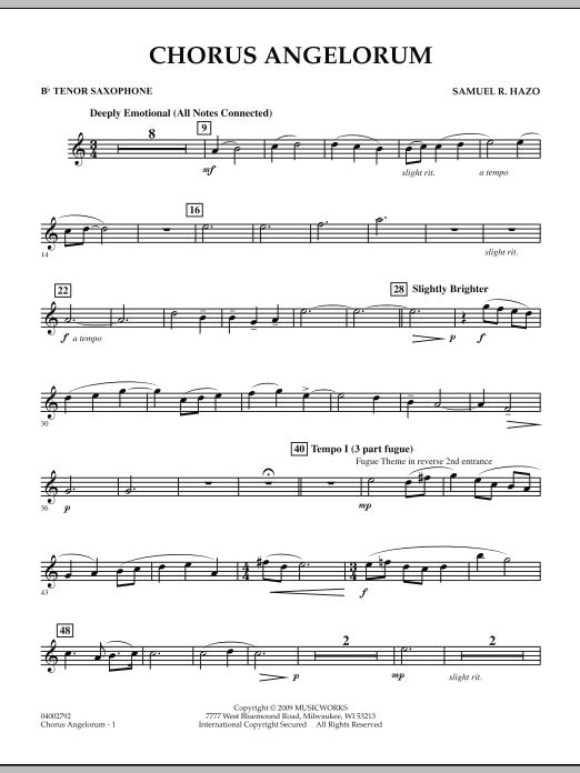 Chorus Angelorum - Bb Tenor Saxophone (Concert Band)