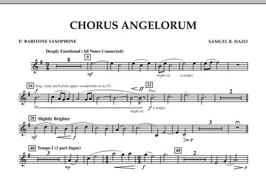 Chorus Angelorum - Eb Baritone Saxophone (Concert Band)