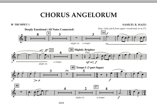Chorus Angelorum - Bb Trumpet 1 (Concert Band)
