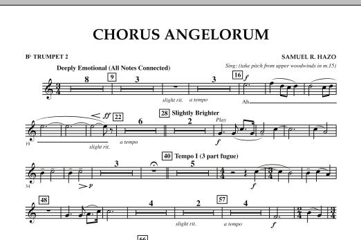Chorus Angelorum - Bb Trumpet 2 (Concert Band)