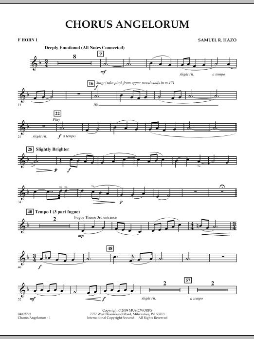 Chorus Angelorum - F Horn 1 (Concert Band)