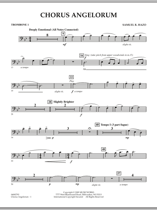 Chorus Angelorum - Trombone 1 (Concert Band)