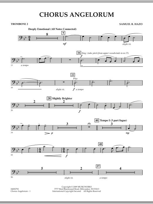 Chorus Angelorum - Trombone 2 (Concert Band)