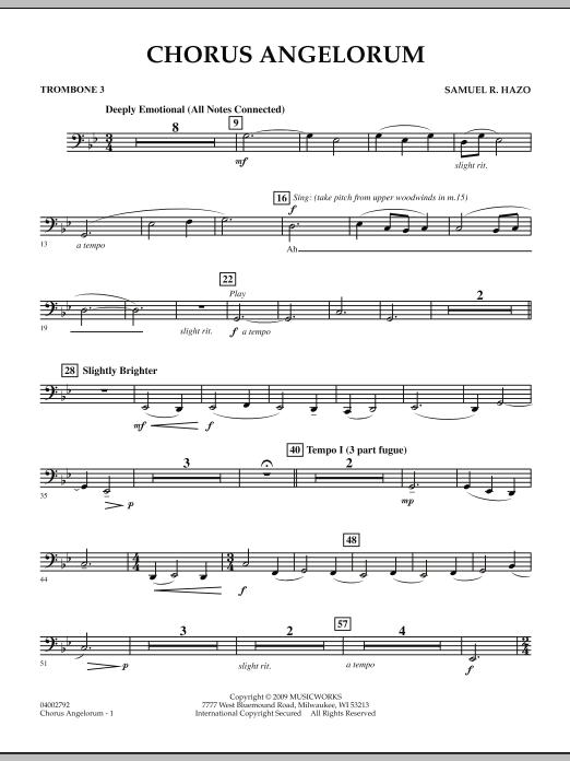 Chorus Angelorum - Trombone 3 (Concert Band)