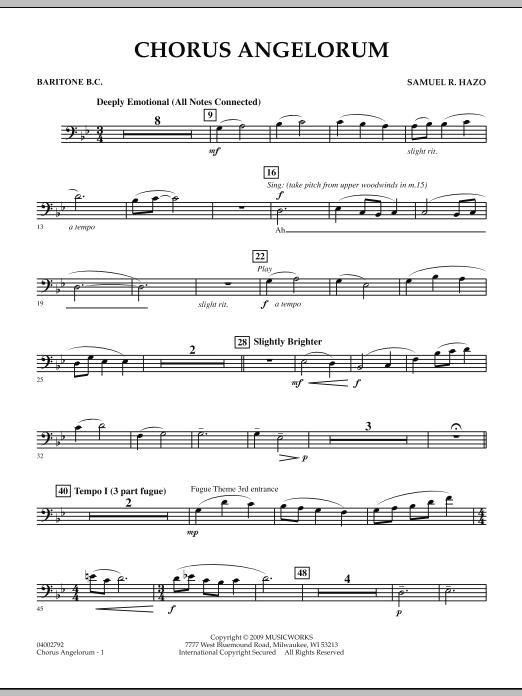Chorus Angelorum - Baritone B.C. (Concert Band)