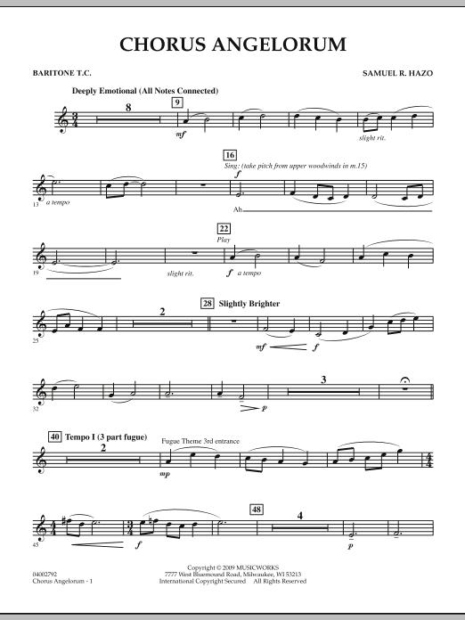 Chorus Angelorum - Baritone T.C. (Concert Band)