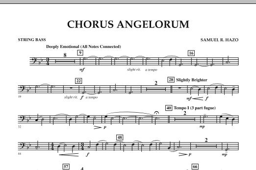 Chorus Angelorum - String Bass (Concert Band)