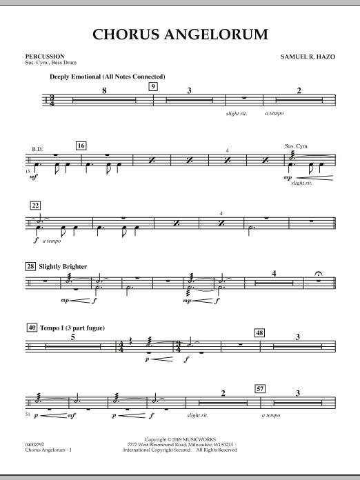 Chorus Angelorum - Percussion (Concert Band)